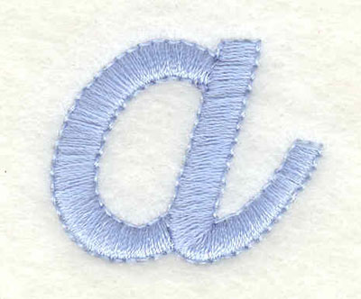 Embroidery Design: a lower case 1.17w X 0.97