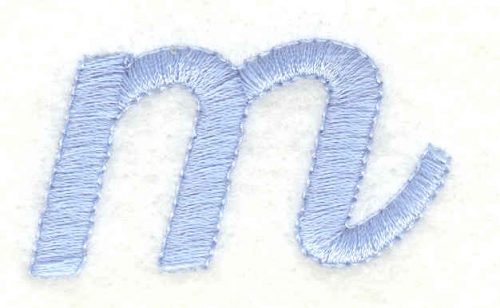Embroidery Design: m lower case 1.80w X 0.95h