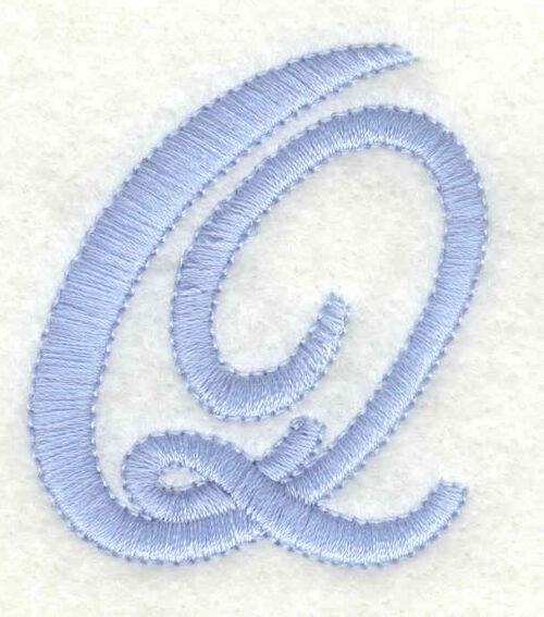 Embroidery Design: Q upper case1.71w X 1.97h