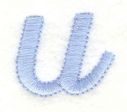Embroidery Design: u lower case 1.13w X 0.92h