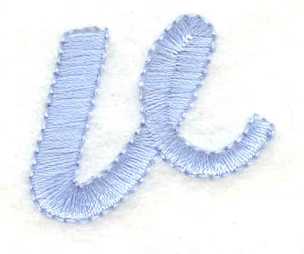 Embroidery Design: v lower case 1.15w X 0.95h