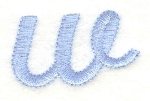 Embroidery Design: w lower case 1.66w X 0.95h