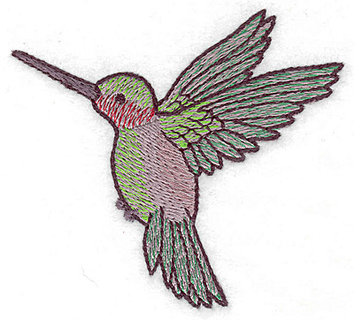 Embroidery Design: Hummingbird 108 small 3.46w X 3.07h