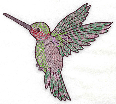 Embroidery Design: Hummingbird 109 large  4.98w X 4.42h