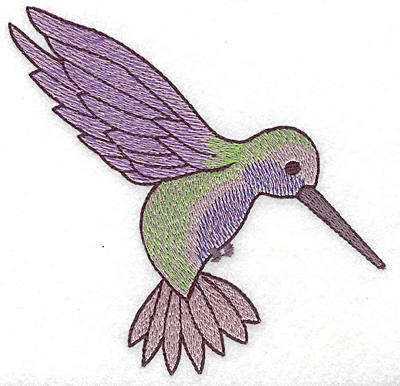 Embroidery Design: Hummingbird 111 large 4.93w X 4.69h