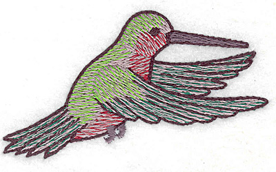Embroidery Design: Hummingbird 112 small 3.43w X 1.97h