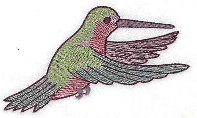 Embroidery Design: Hummingbird 113 large 4.93w X 2.83h