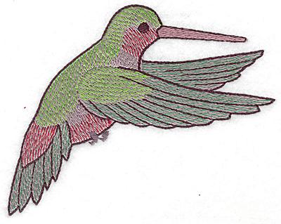 Embroidery Design: Hummingbird 115 large 4.96w X 4.19h