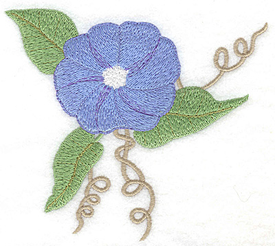 Embroidery Design: Morning Glory blue large 4.98w X 4.50h