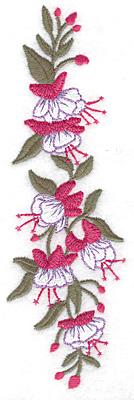 Embroidery Design: Fuschia large 2.15w X 6.99h