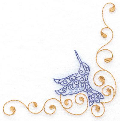 Embroidery Design: Hummingbird right corner large 4.97w X 4.98h