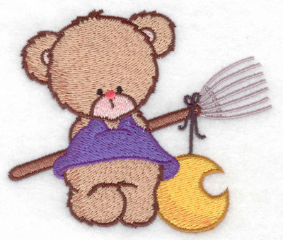 Embroidery Design: Bear with broom small 3.85w X 3.30h