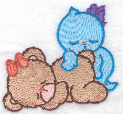 Embroidery Design: Bear's ghostly dreams small 3.86w X 3.37h