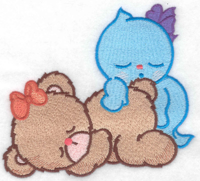 Embroidery Design: Bear's ghostly dreams large 4.94w X 4.30h