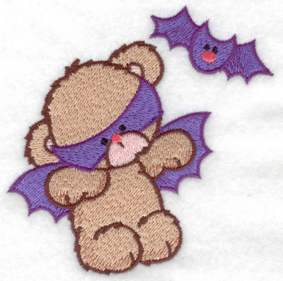 Embroidery Design: Bat bear small 3.86w X 3.88h