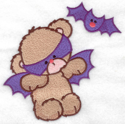 Embroidery Design: Bat bear large 4.94w X 4.97h