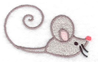 Embroidery Design: Mouse 2.55w X 1.51h