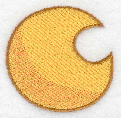 Embroidery Design: Moon 2.52w X 2.51h