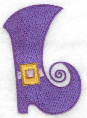 Embroidery Design: Witches boot 2.48w X 3.54h