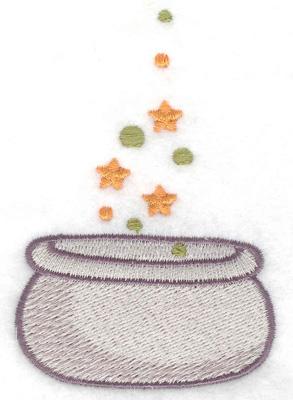 Embroidery Design: Witches cauldron 2.42w X 3.52h