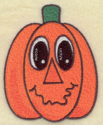 Embroidery Design: Pumpkin smiling 2.83w X 3.55h