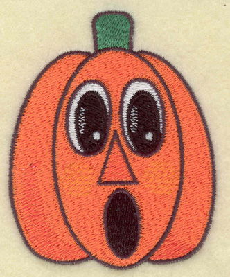 Embroidery Design: Surprised pumpkin 2.84w X 3.55h