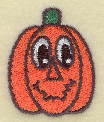 Embroidery Design: Pumpkin smiling small 1.43w X 1.78h