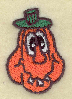 Embroidery Design: Toothy pumpkin small 1.27w X 1.83h