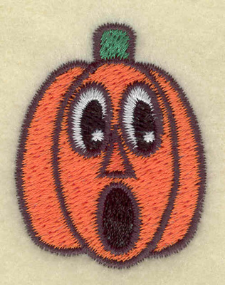 Embroidery Design: Surprised pumpkin small 1.43w X 1.83h