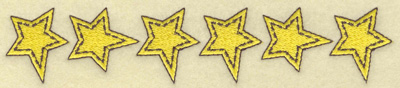 Embroidery Design: Row of stars 6.85w X 1.34h