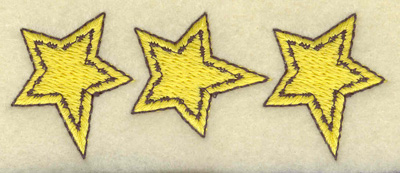 Embroidery Design: Star trio 3.44w X 1.34h