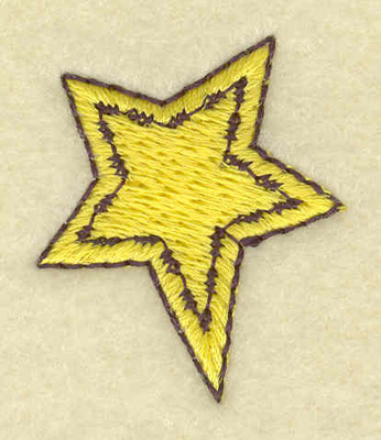 Embroidery Design: Mini star 1.13w X 1.34h
