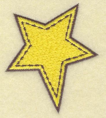 Embroidery Design: Star   2.18w X 2.62h