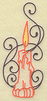Embroidery Design: Halloween candle design large 2.16w X 4.97h
