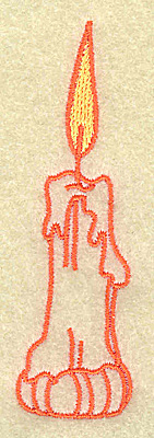 Embroidery Design: Candle 1.06w X 3.53h