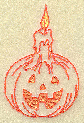Embroidery Design: Pumpkin with candle 2.34w X 3.51h