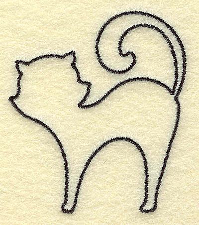 Embroidery Design: Black cat 2.67w X 3.02h