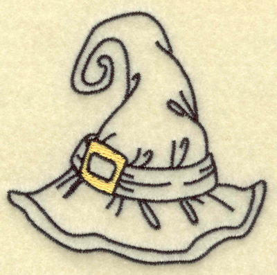 Embroidery Design: Witches hat 3.00w X 2.96h