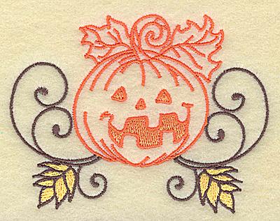 Embroidery Design: Jack-o-lantern design small 3.86w X 2.95h