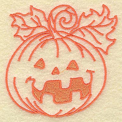 Embroidery Design: Jack-o-lantern happy face 2.92w X 3.03h