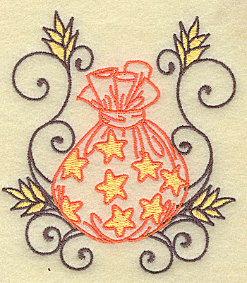 Embroidery Design: Treat Bag with swirls small 3.55w X 3.88h
