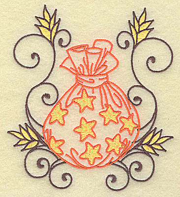 Embroidery Design: Treat Bag with swirls large 4.55w X 4.97h
