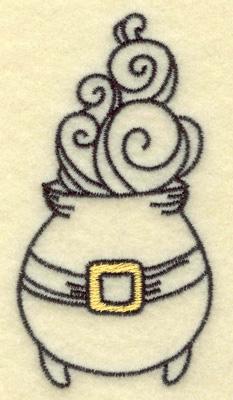 Embroidery Design: Halloween Cauldron 1.84w X 3.53h