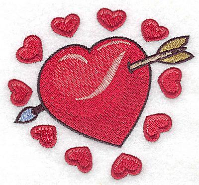 Embroidery Design: Valentine hearts small 3.84w X 3.55h