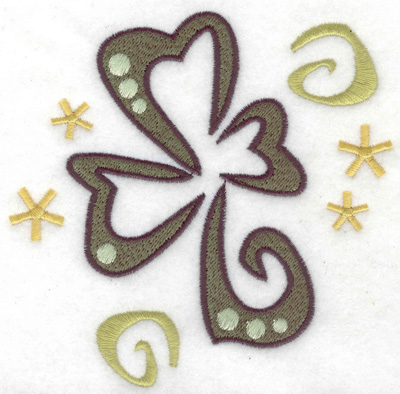 Embroidery Design: St. Patrick's day shamrock large 4.92w X 4.84h