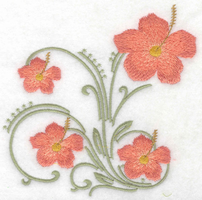 Embroidery Design: Mother's Day flowers large 4.92w X 4.96h