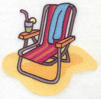 Embroidery Design: Summer holiday large 4.94w X 4.77h