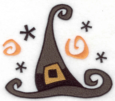 Embroidery Design: Halloween witch's hat large 4.92w X 4.33h