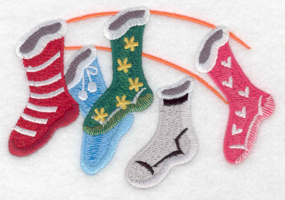 Embroidery Design: Christmas stockings large 4.91w X 3.35h