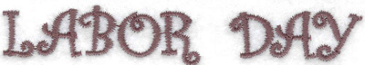 Embroidery Design: Labor Day (large) 3.81w X 0.63h